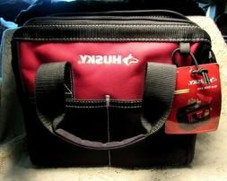 Husky 10 Inch Tool Bag 600 Denier Water Resistant Material 4 Pockets 10X6X9