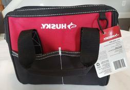 Husky 10 Inch Tool Bag Rd/Blk 600 Denier Water Resistant Mat