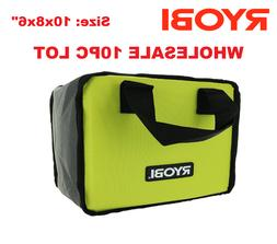 10x New RYOBI Lime Green Genuine OEM Tool Tote Zipper Tool B