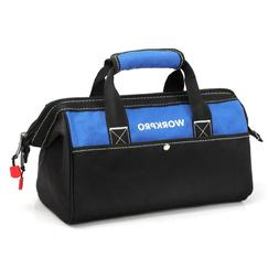 """WORKPRO 12""""14""""16""""18""""In Tool Bag Top Wide Mouth Adjustable St"""