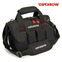 WORKPRO 12 inch Tool Bag 600D Polyester Electrician Shoulder
