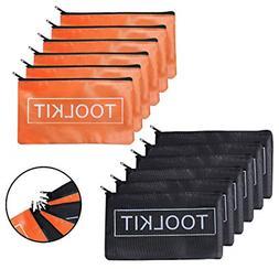 12 PC Oxford Tool Pouch Zipper Bag Utility Bag Small Tool Ba