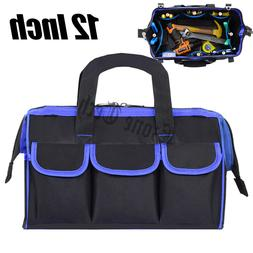 """12"""" Tool Bag Case Wide Mouth Heavy Duty Carry Work Tote Stor"""