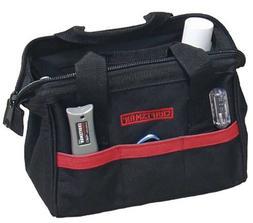 "CRAFTSMAN 12"" Tool Bag, Tuftwear construction, Black & Red,"