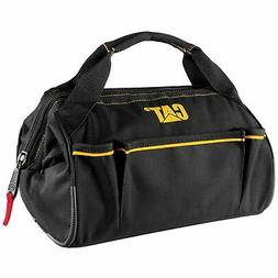 Cat 13 inch Widemouth Tool Bag High Visibility Interior 600D