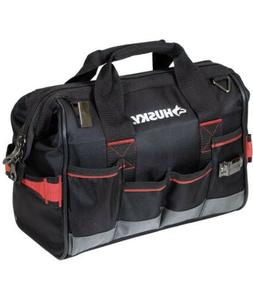 Husky 14 In. Heavy Duty Pro Large Mouth Tool Bag/Organizer w