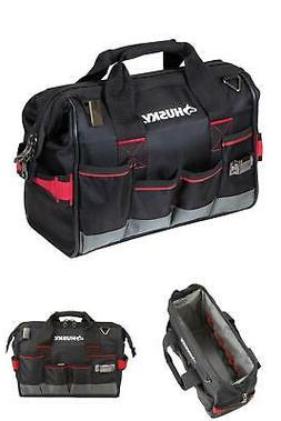 Husky 14 In. Heavy Duty Pro Large Mouth Tool Bag Organizing