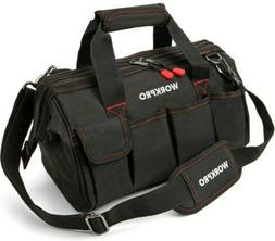 WORKPRO 14-inch Close Top Wide Mouth Storage Tool Bag with S