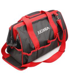 "15"" Large Tool Bag Red & Black Wide Mouth Collapsible Genuin"