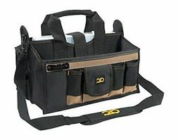 Custom Leathercraft 15 Pocket 16 in. Center Tray Tool Bag