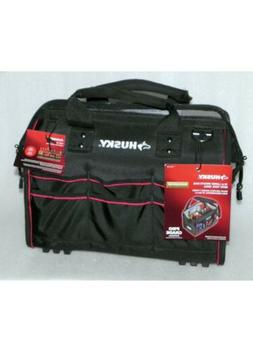 Husky 16-in. Large Mouth Tool Bag with Tool Wall Black * NEW