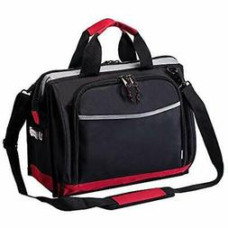 16-inch Tool Bag, 25 Pockets Wide Mouth Storage Tools Bag, H