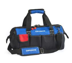 "18"" Storage Tool Bag Heavy Duty Portable Top Open Wide Mou"