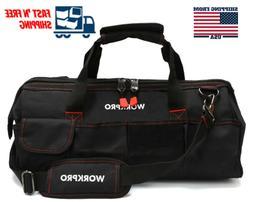 "WORKPRO 18"" Close Top Storage Heavy Duty Tool Bag Black Mult"