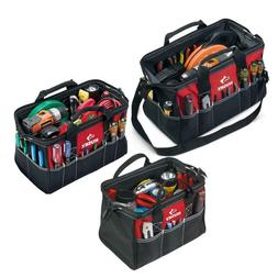 18 in. 15 in. 12 in. Tool Bag Combo Red Zippered Storage Tot