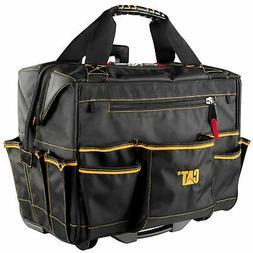 Cat 18 in. Pro Rolling Tool Bag 18 Pockets Heavy Duty 1680D