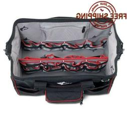 "Husky 18"" Water Resistant Large Wide Opening Tool Bag Poly"