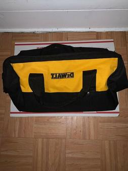 "dewalt 19""x13""x12"" pocket heavy duty nylon canvas contractor"