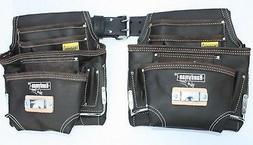 2 10 pkt Carpenter Electrician Tool Pouch Waist Bag w/ Belt