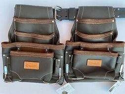2 10 pkt Carpenter Electrician Tool Pouch Waist Bag with Bel