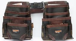 2 10 pkt Carpenter Electrician Tool Pouch Waist Bag with Bel