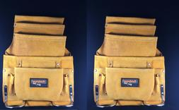 2-PACK !! 10 pocket carpenter electrician nail & tool bag be