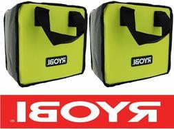 2) RYOBI TOOL BAGS  DRILL IMPACT & BATTERIES CASE HOLDER *NE