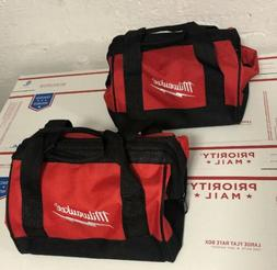 "2 New 11"" Milwaukee Heavy Duty Tool bag for M12 M18 2 tool 1"