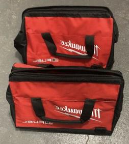 2 New 16 inch Milwaukee Fuel Heavy Duty Contractor Tool Bags
