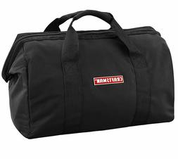 "Craftsman 20 x 9 x 12"" Large Black Nylon Tool Bag Zipper top"