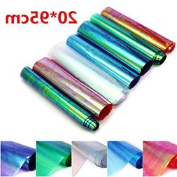 '20×95cm PVC Holographic Roll Clear Film Mirrored Foil V