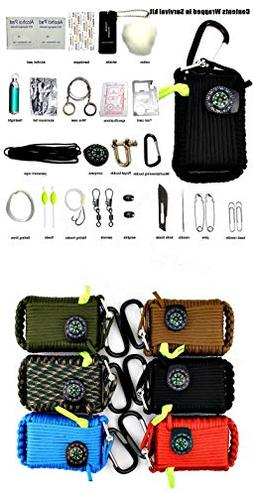 '22 In1 Multifunction Outdoor Fishing Survival Kit Parachute