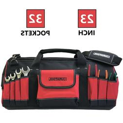 DURATOOL 23-inch Heavy Duty Large Tool Bag 32 Pockets Tote T