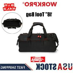 "WORKPRO 2PC 13"" 18"" TOOL BAG CASE WIDE MOUTH Heavy Duty Tote"