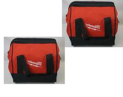 2X Milwaukee Contractor Tool Bag Nylon Heavy Duty Tote Case