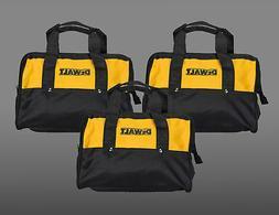 "3 Dewalt 12"" Tool Bags for 2 piece 18V or 20V tool kits Soft"