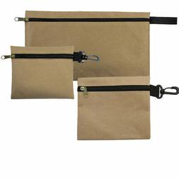3 Pack Lot Multi Purpose Zippered Organizer Clip On Tool Pou