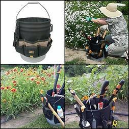 30 Pocket 5 Gallon Bucket Garden Tool Organizer Bag Assorted