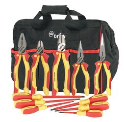 Wiha 32390 11 Piece Insulated Industrial Pliers & Driver Set