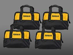 "4 Dewalt 12"" Tool Bags for 2 piece 18V or 20V tool kits Soft"
