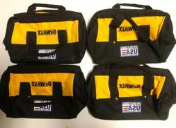 "NEW DEWALT 13"" X 10"" X 9"" Medium Tool Bags w/ 6 Outer Pocke"