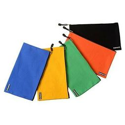 Stuffbag 5-Pack Multi Color Zipper Canvas Small Parts Hand T