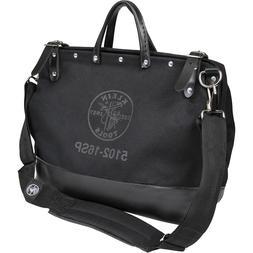 Klein Tools 510216SPBLK Deluxe Black Canvas Tool Bag, 16-Inc