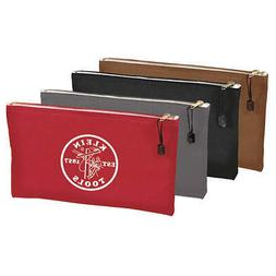 "KLEIN TOOLS 5141 Zipper Tool Bag,12-1/2 x7"",4 Pieces"