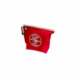 Canvas Zipper Bag- Consumables, Red Klein Tools 5539RED