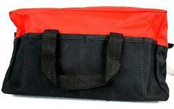 "600D Polyester 13"" RED/Black Tool Bag w/ Reinforced Bottom"