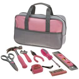 9 PIECE LADIES PINK HAND TOOL BAG Set Kit Girl Women Gift As