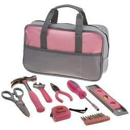9 PIECE LADIES PINK HAND TOOL BAG Set Kit Girl Women Gift As