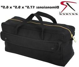 Black Mechanics Brass Zipper Heavy Duty Jumbo Medics Bag  /
