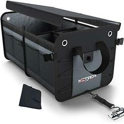 Car Trunk Organizer by FORTEM | Heavy Duty Collapsible Cargo